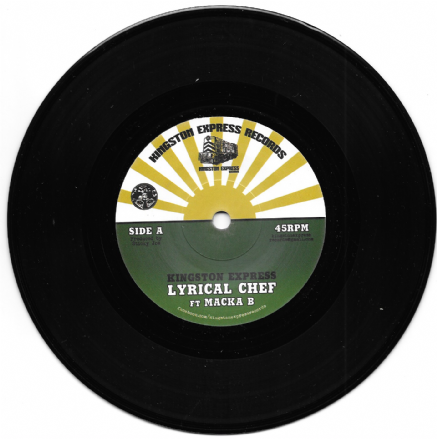 Kingston Express ft. Macka B - Lyrical Chef / Version ft. Ital Horns (Kingston Express Records) 7""